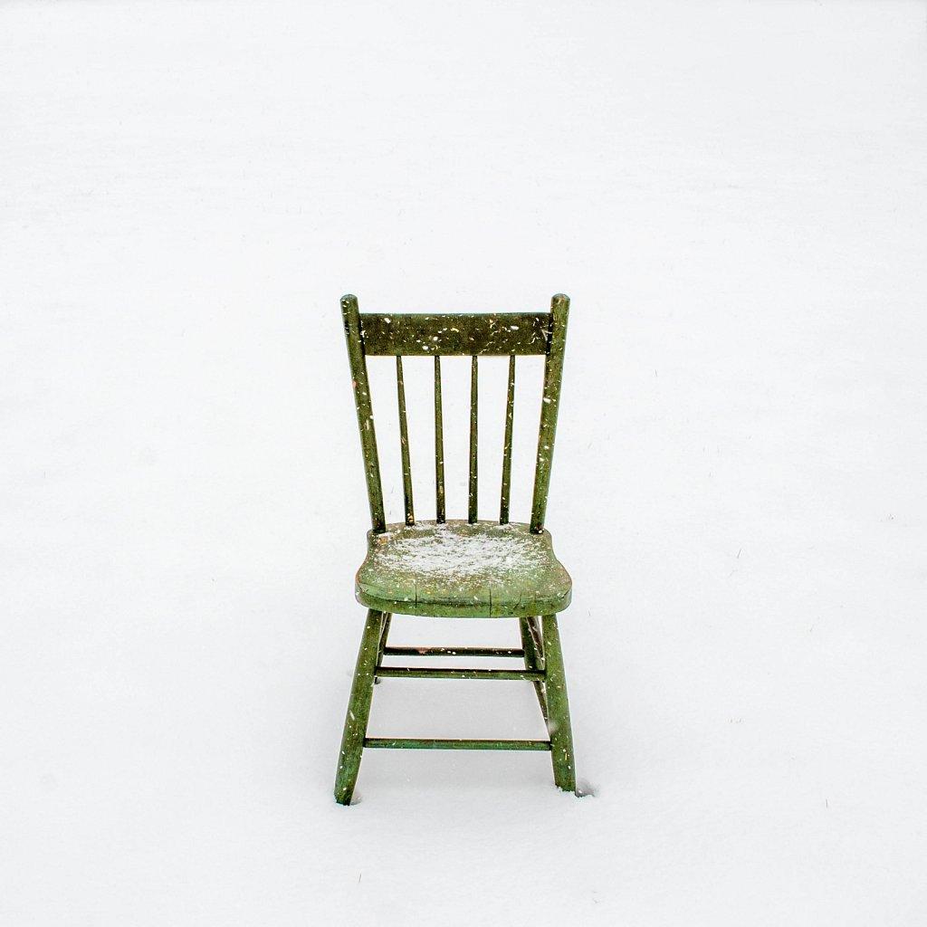 chair, snow